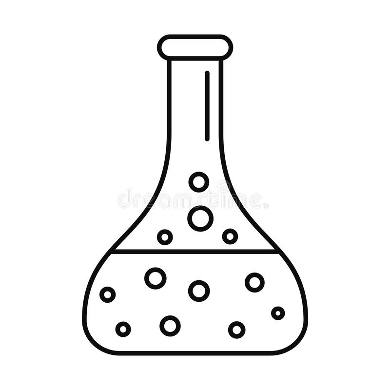 Chemical Flask Icon, Simple Style Stock Vector