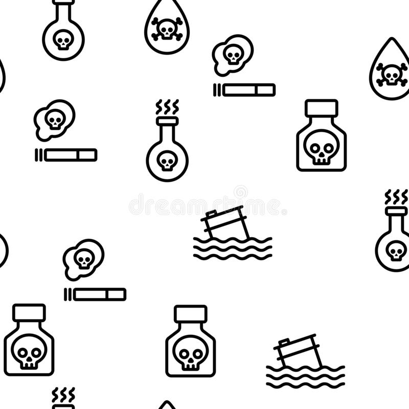 Chemical Toxic Poison Vector Onboarding Stock Vector
