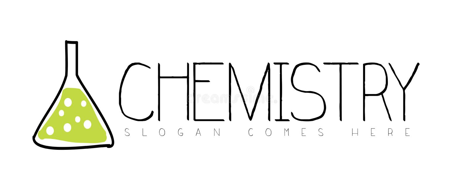 Chemistry Logo Concept stock vector. Image of reaction