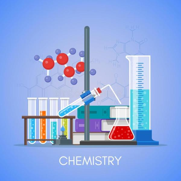 Chemistry Science Education Concept Vector Poster In Flat
