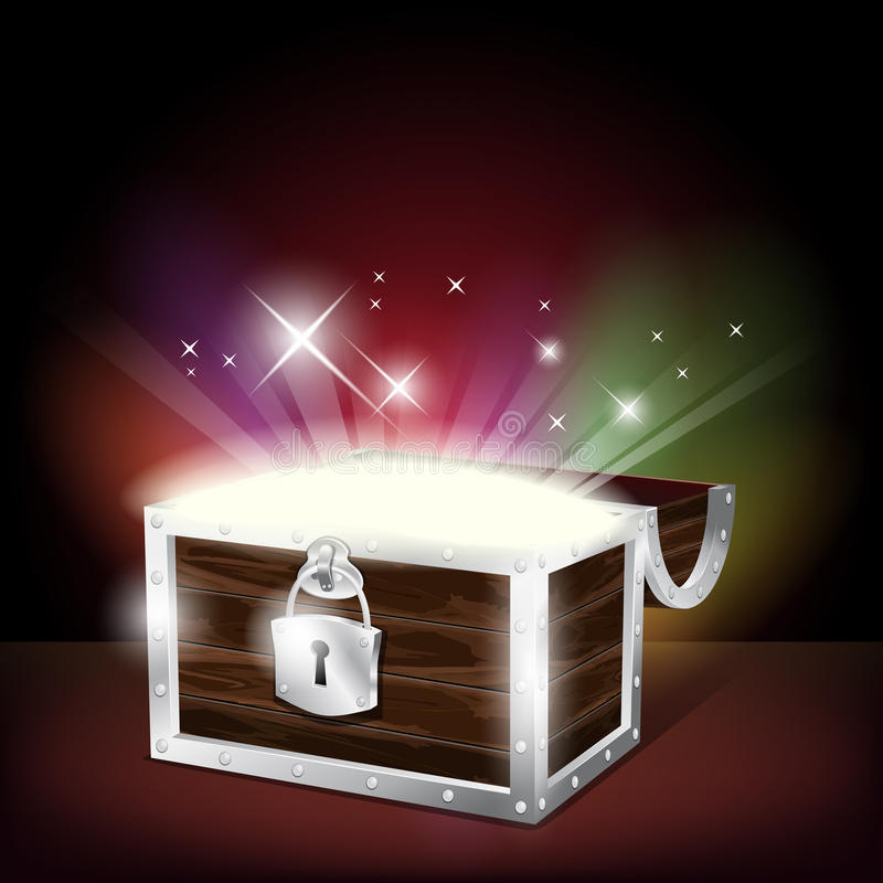 Chest With Glowing Treasure Stock Image Image 25354931