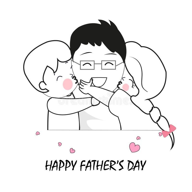 Happy Father's Day African American Stock Vector