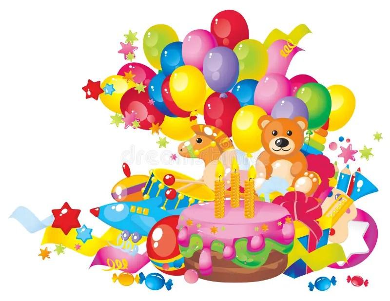 Childrens Birthday Stock Vector Illustration Of Decoration 24018561