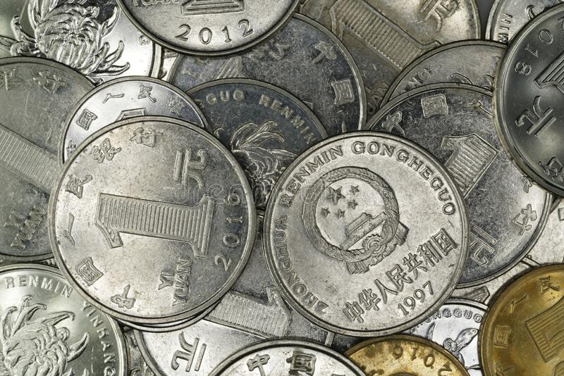 Close Up Of Chinese Renminbi Coin Stock Photo - Image of cents. circulation: 178393774