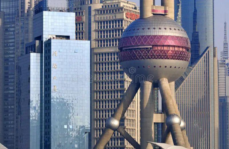 shanghai china satellite map print