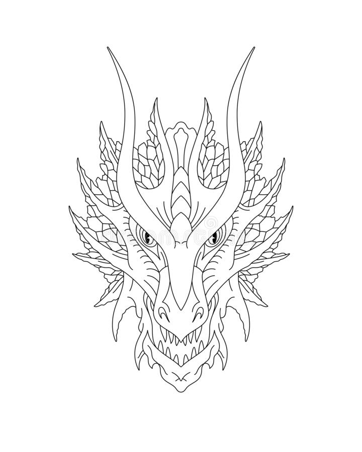 Front Dragon Head Drawing : front, dragon, drawing, Chinese, Dragon, Design, Stock, Illustrations, 3,852, Illustrations,, Vectors, Clipart, Dreamstime