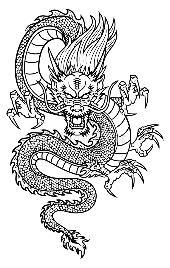 Chinese Dragon stock vector. Illustration of ethnicity