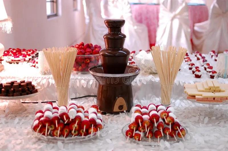 Wedding Reception Chocolate Fountain