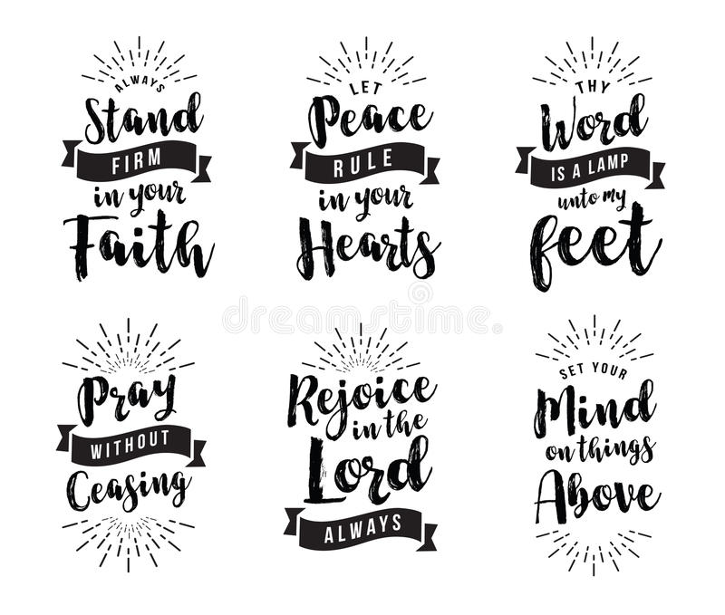 Stand Firm in your faith stock illustration. Illustration