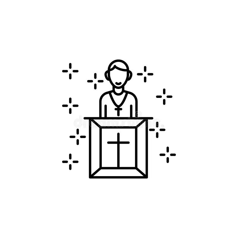 Pulpit Stock Illustrations