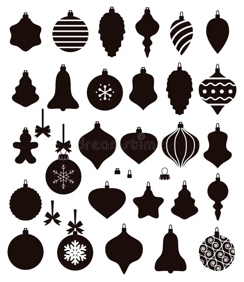 christmas ornament shapes stock