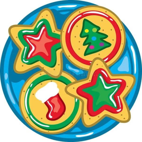 christmas cookies plate stock