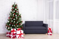 Christmas Interior -decorated Christmas Tree In Living ...