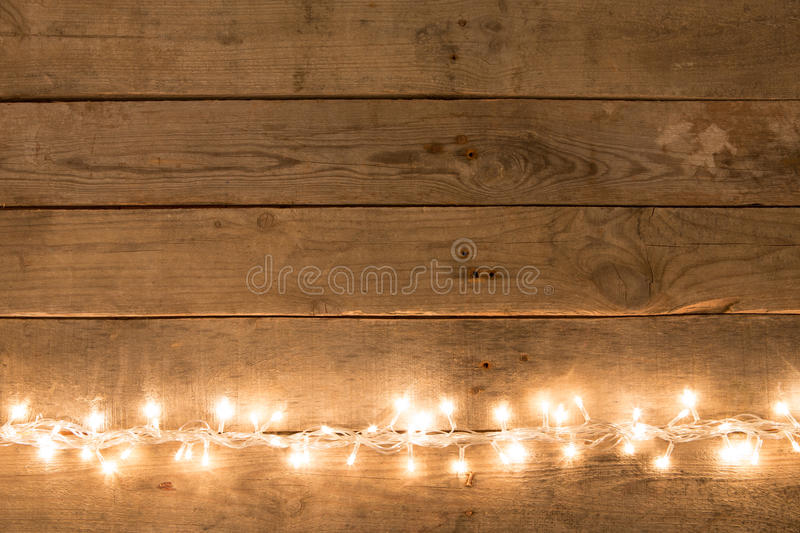 Rustic Christmas Lights Background