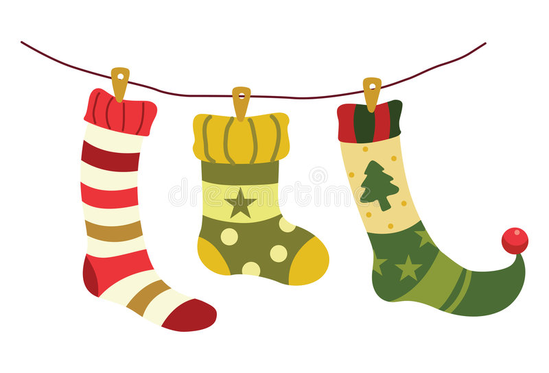 christmas stockings in winter