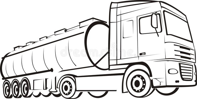 Ciężarówka ślad ilustracja wektor. Ilustracja złożonej z