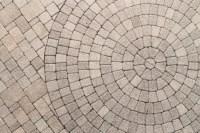Circle Design Pattern In Patio Paving Stock Photo - Image ...