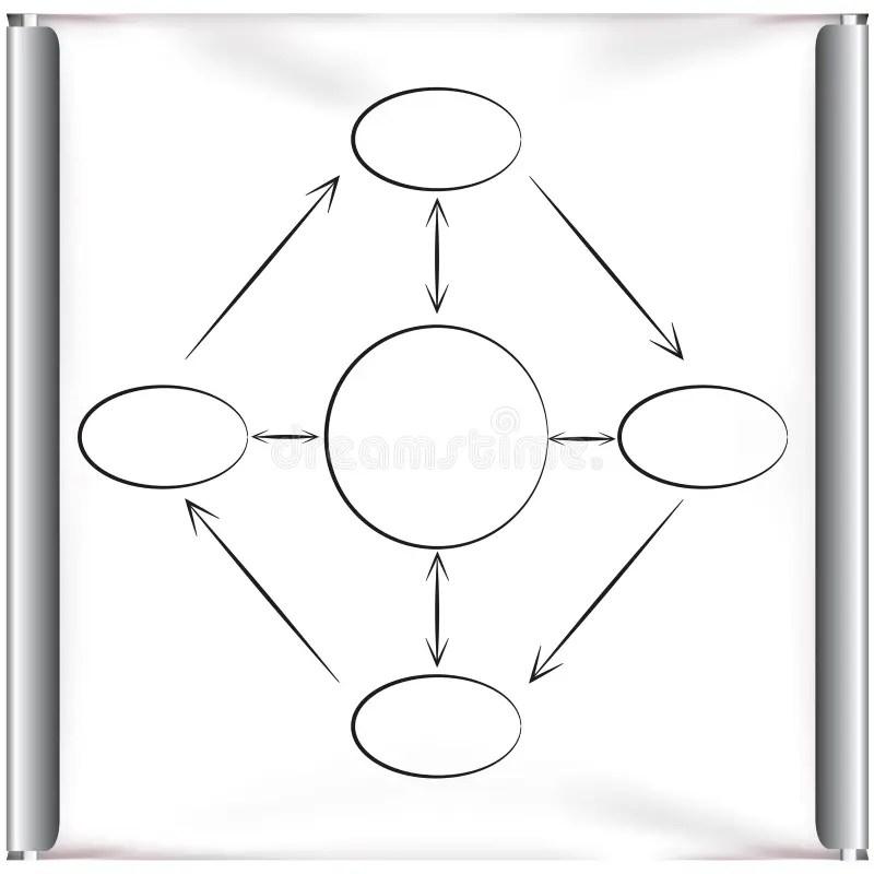Arrow Chart In Projector Screen Stock Illustration