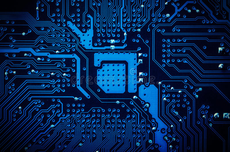 Circuit Board Background. Royalty Free Stock Photo