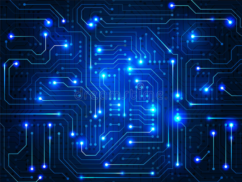 Circuit Board. Digital Abstract Background Stock Vector