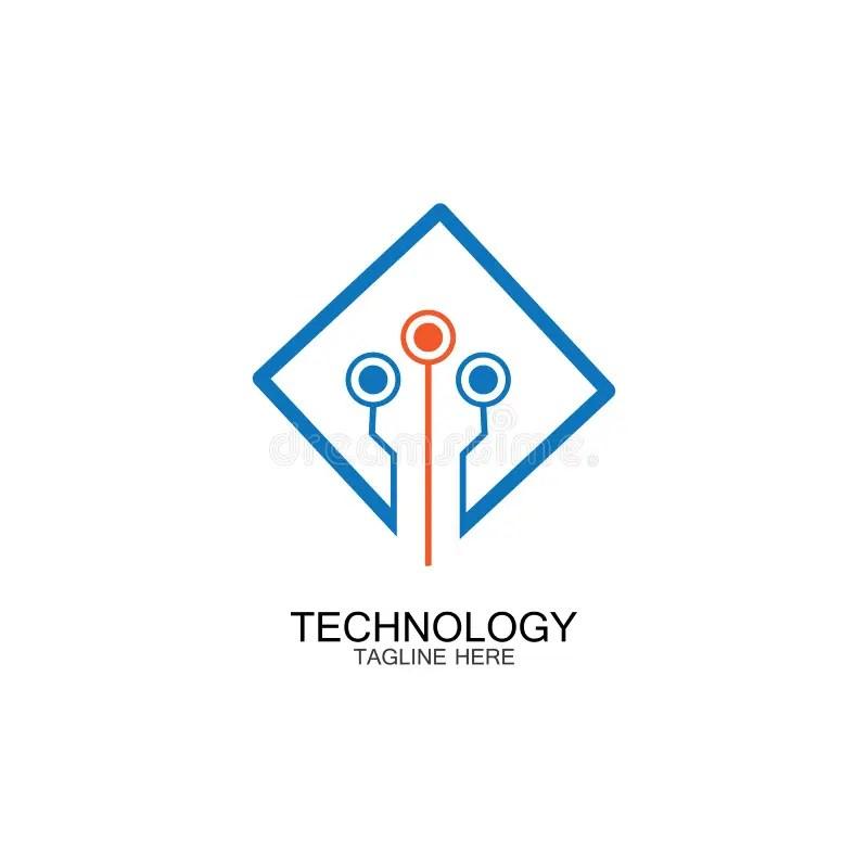 Circuit Technology Logo Vector Template-vector Stock