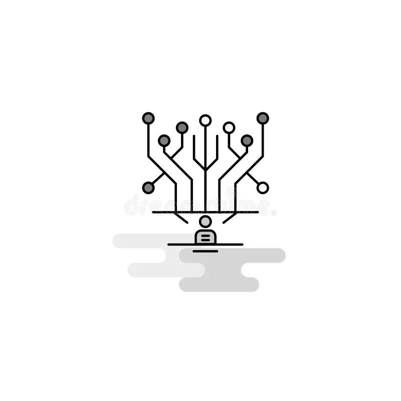 Power Circuit, Vector Best Gray Line Symbol Stock Vector