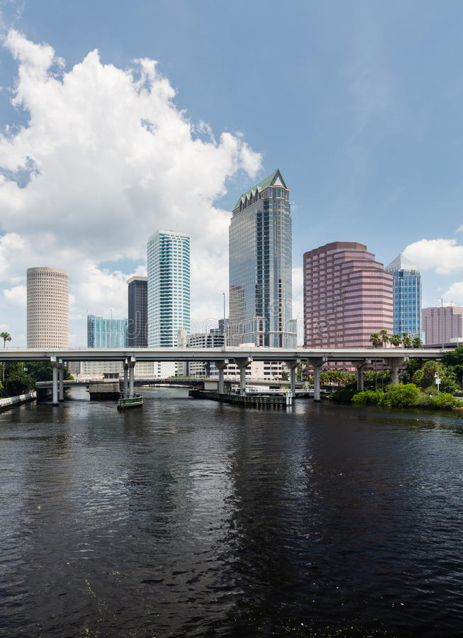 City Skyline Of Tampa Florida During The Day Stock Photo ...