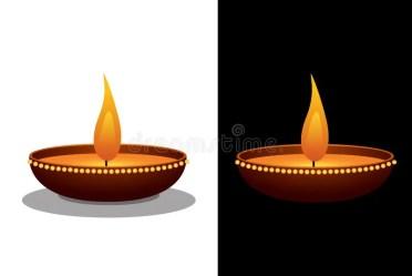 Clay Oil Lamp stock illustration Illustration of buddhism 62450944