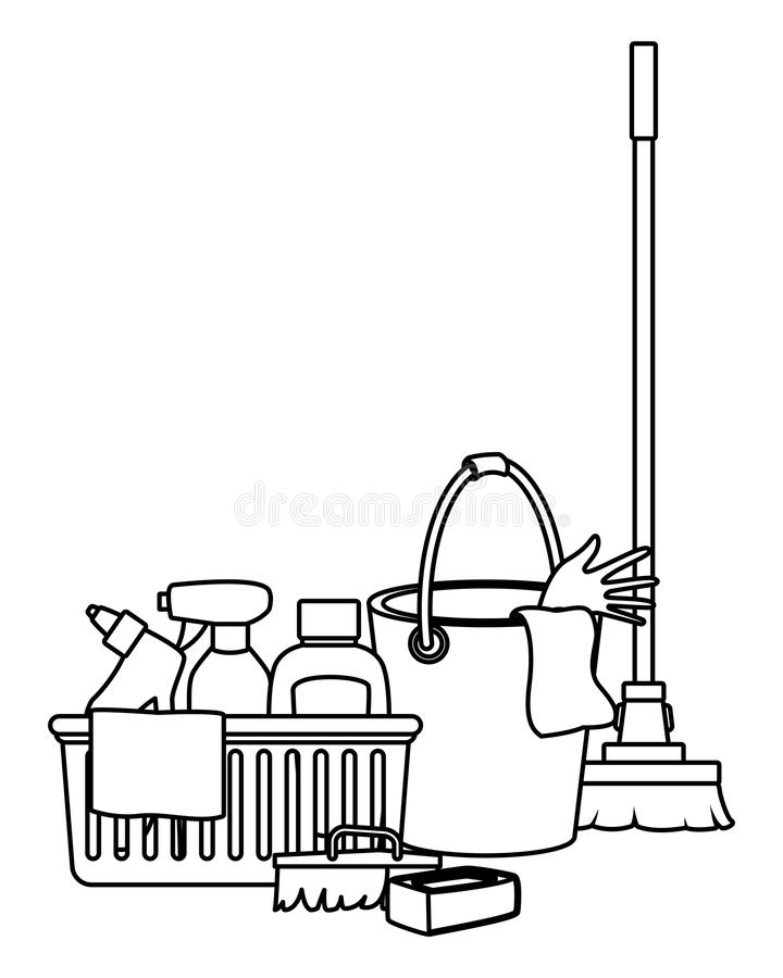 Cleaning Clipart Black And White : cleaning, clipart, black, white, Cleaning, Hygiene, Equipment, Icons, Black, White, Stock, Vector, Illustration, Home,, Housecleaning:, 152340679