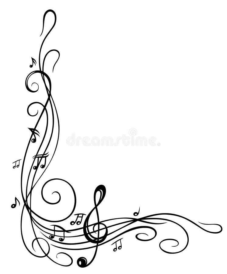 Clef, music sheet stock photo. Image of disco, melody