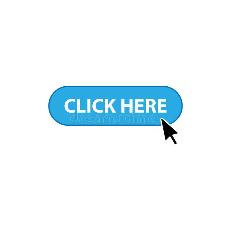 Click here arrow icon stock vector. Illustration of large - 11873966
