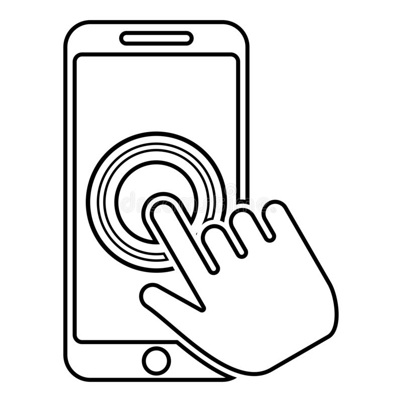 Afro American Hand Hold Blank Screen Phone Isolated On