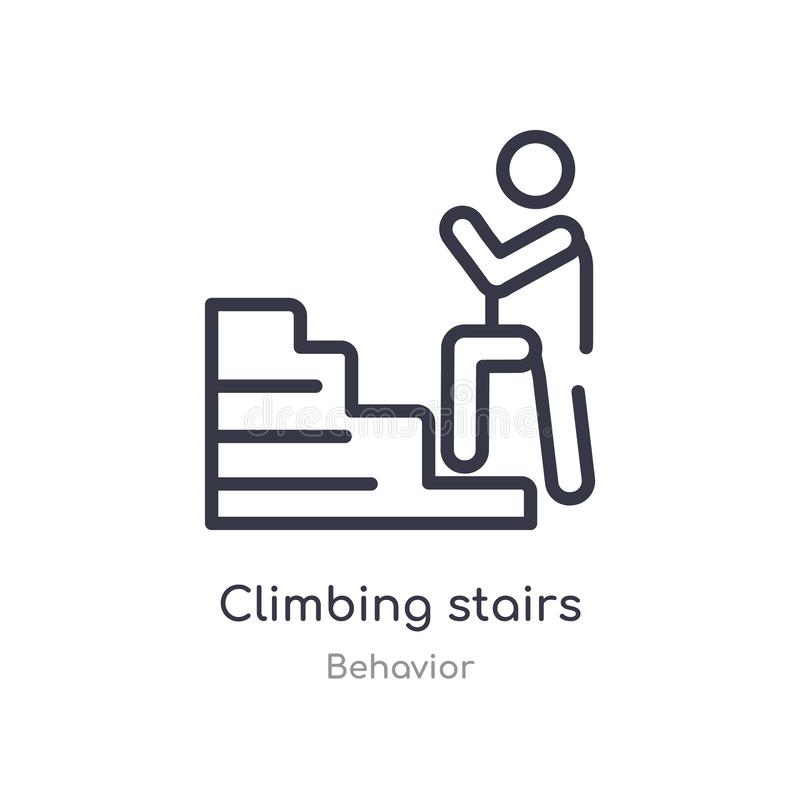 Climbing stairs of success stock illustration