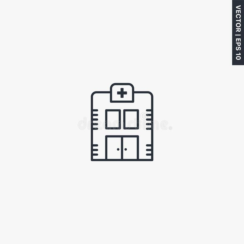 Ambulance, Medic Transport, Vector Best Gray Line Icon