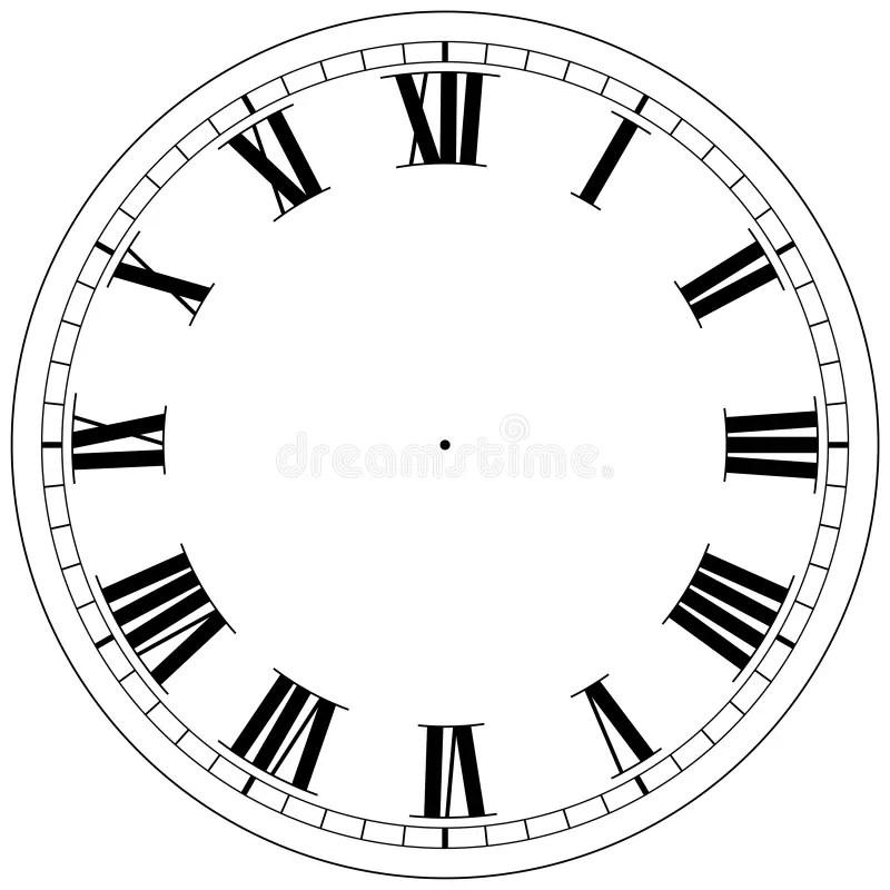 Clock Template stock illustration. Illustration of