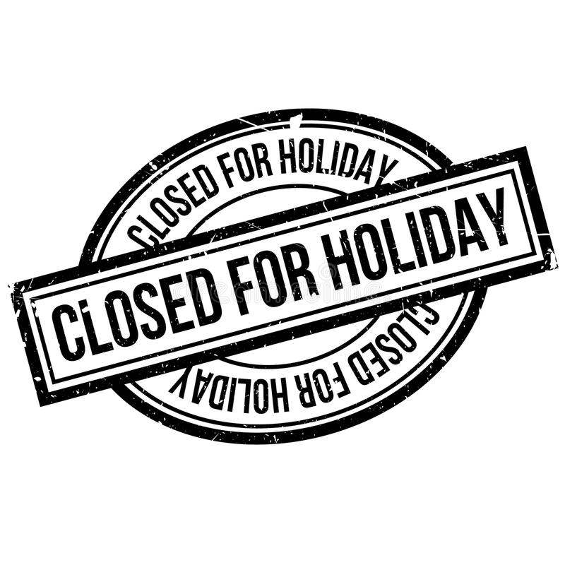 Simple White Sign With Text `Closed For Vacation` Hanging