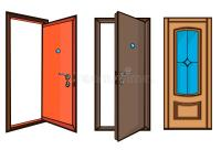 Closed And Open Doors .cartoon Style Stock Vector ...
