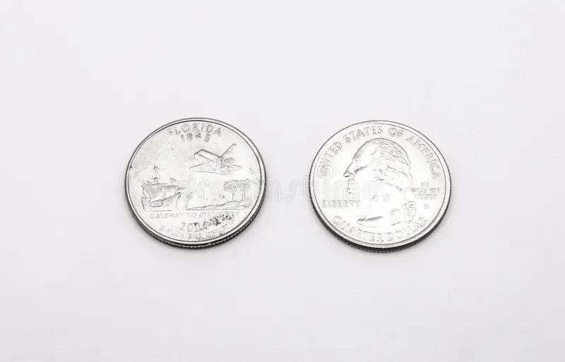 Florida State Quarter stock photo. Image of finances