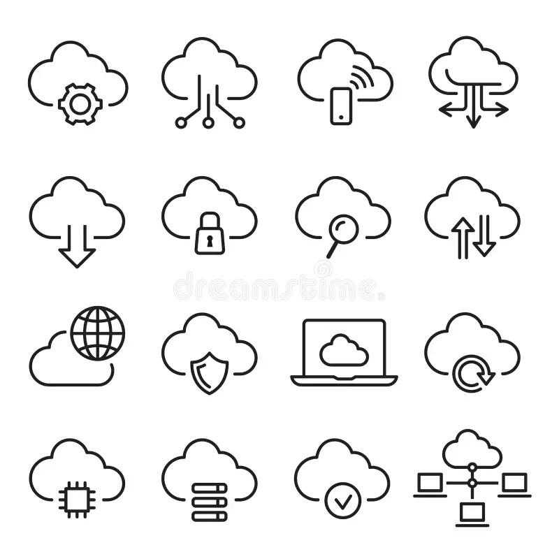 Database Icon Set stock illustration. Illustration of