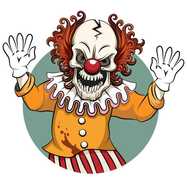 clown vector illustration stock