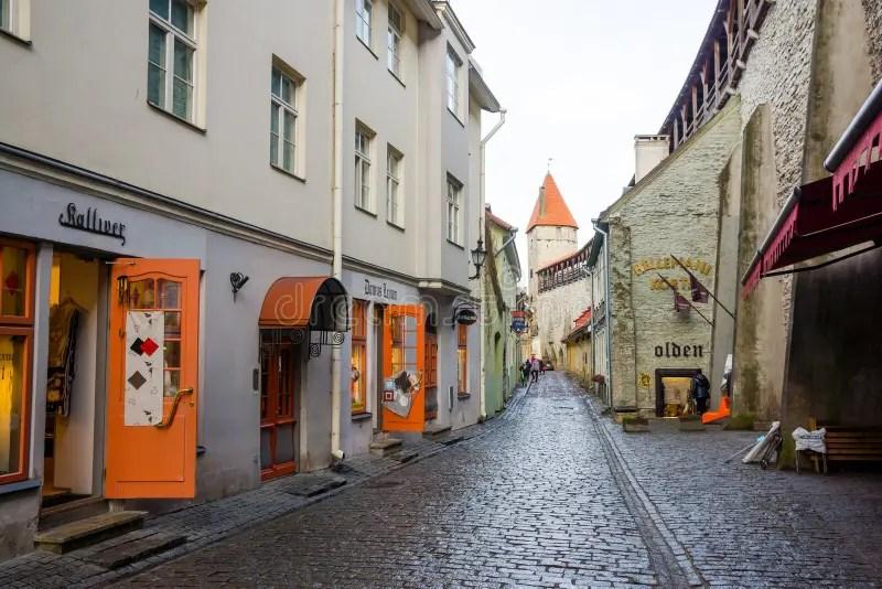 Cobbled Street Tallinn Estonia Stock Photos - Download 261 Royalty Free Photos
