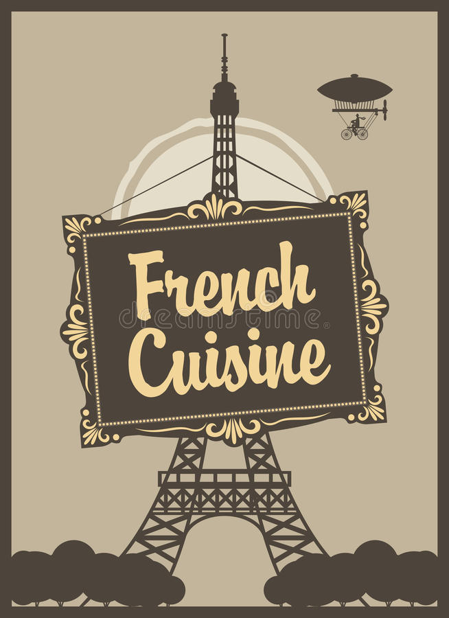 Cocina francesa ilustracin del vector Ilustracin de