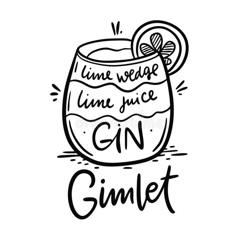Gimlet stock vector. Illustration of drawn, tool, symbol