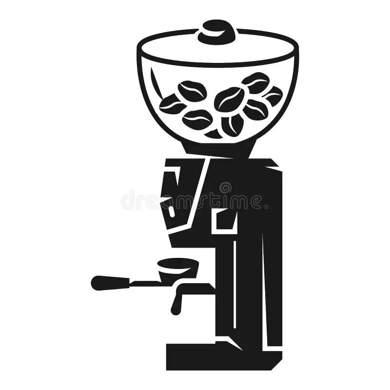 Coffee Grinder Of Light Wood Stock Illustration