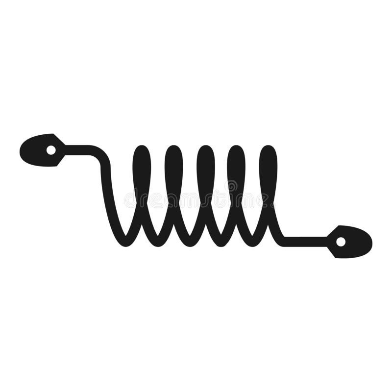 Electric Cable In Coil Icon, Simple Style Stock Vector