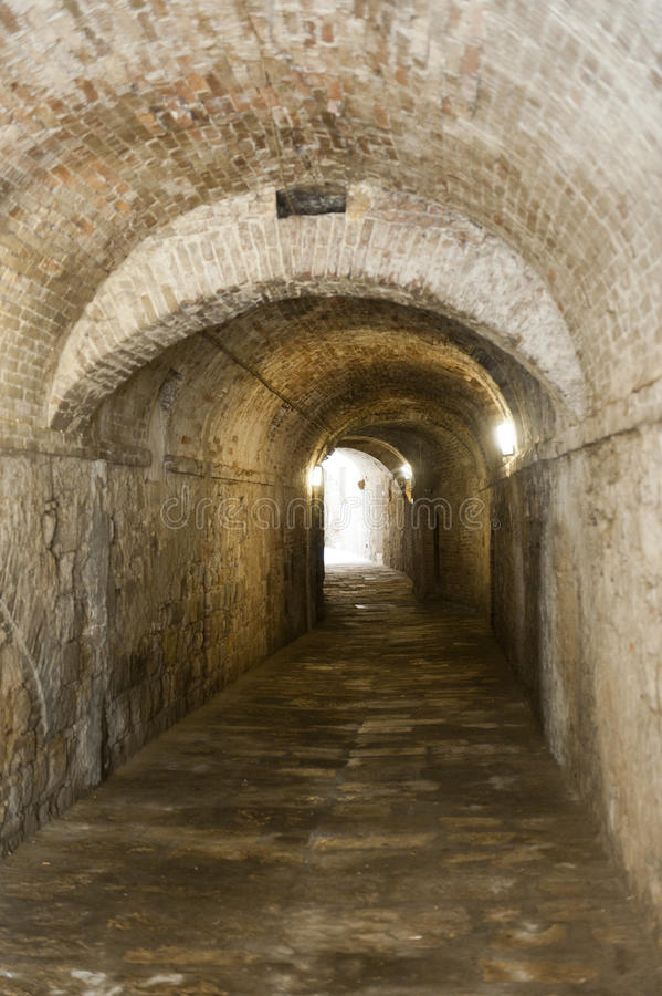 Covered Alley In Colle Di Val D39Elsa Tuscany Italy Stock