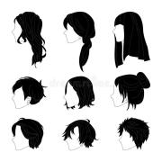 collection hairstyle side view