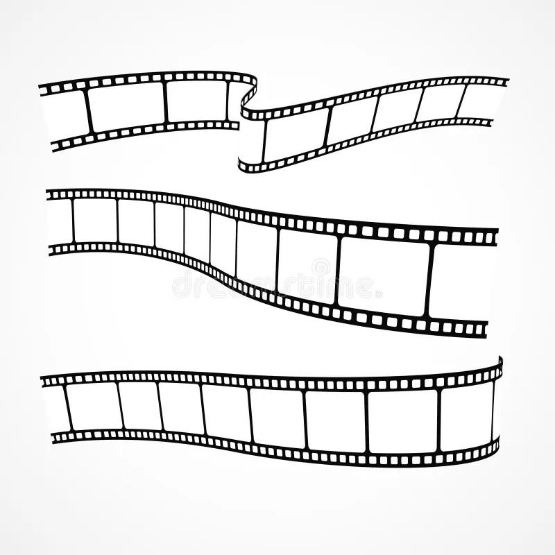 Vector movie film strips stock vector. Illustration of