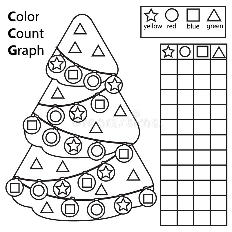 Color, Count And Graph. Educational Children Game. Color