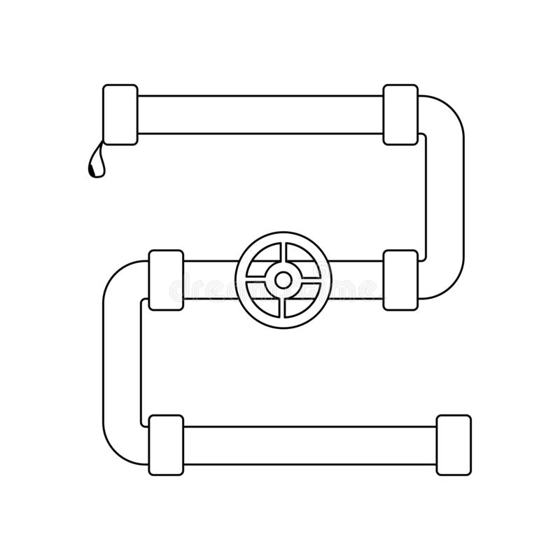 Line Pipe Stock Illustrations